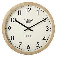 Buy Thomas Kent Clifton Clock, Solid Oak, Dia. 47cm Online at johnlewis.com
