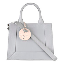 Buy Radley Border Mini Leather Multi-Way Grab Bag, Grey Online at johnlewis.com
