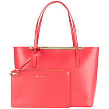 Buy Ted Baker Lilley Small Crosshatch Shopper Bag, Red Online at johnlewis.com