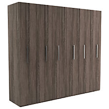 Buy John Lewis Leben 6 Door 240cm Bi-fold Wardrobe Online at johnlewis.com