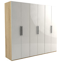 Buy John Lewis Leben 6 Door 240cm Hinged Wardrobe Online at johnlewis.com