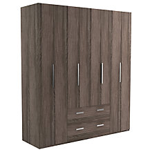 Buy John Lewis Leben 4 Door and 2 Drawer Linen-Press 190cm Bi-Fold Wardrobe Online at johnlewis.com