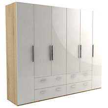 Buy John Lewis Leben 6 Door and 4 Drawer Linen-Press 260cm Wardrobe Online at johnlewis.com