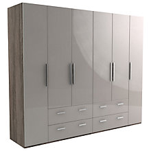 Buy John Lewis Leben 6 Door and 4 Drawer Linen-Press 260cm Hinged Wardrobe Online at johnlewis.com