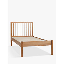 Buy John Lewis Morgan Bed Frame, Single, Oak Online at johnlewis.com