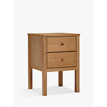 Buy John Lewis Morgan 2 Drawer Bedside Table, Oak Online at johnlewis.com