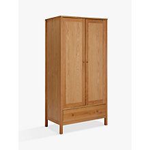 Buy John Lewis Morgan Double Wardrobe, Oak Online at johnlewis.com
