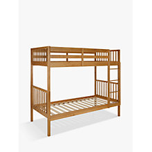 Buy John Lewis Morgan Story Time Bunk Bed, Oak Online at johnlewis.com