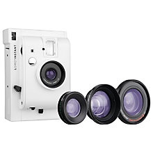Buy Lomography Lomo'Instant Analogue Camera & 3 Lens Attachments, White Edition Online at johnlewis.com
