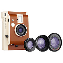 Buy Lomography Lomo'Instant Analogue Camera & 3 Lens Attachments, Sanremo Edition Online at johnlewis.com