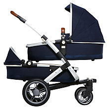 Buy Joolz Parrot Blue Geo Twin Pushchair with Carrycot and free Footmuff Online at johnlewis.com