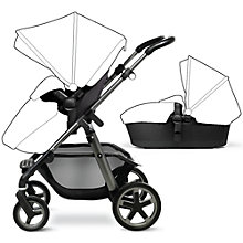 Buy Silver Cross Pioneer Seat, Chassis and Carrycot, Black Online at johnlewis.com