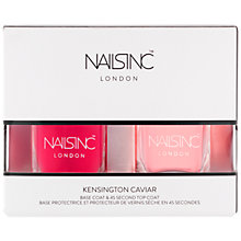 Buy Nails Inc Kensington Caviar Top & Base Coat Duo Online at johnlewis.com