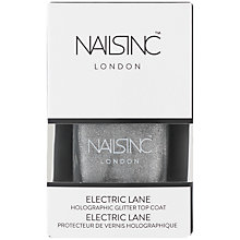 Buy Nails Inc Electric Lane Holographic Top Coat, 14ml Online at johnlewis.com