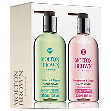 Buy Molton Brown Pomegranate & Ginger and Mulberry & Thyme Hand Wash Duo, 2 x 300ml Online at johnlewis.com