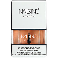 Buy Nails Inc Kensington Caviar 45 Second Top Coat, 14ml Online at johnlewis.com