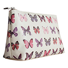 Buy John Lewis Butterfly Print Basic Cosmetic Pouch Online at johnlewis.com