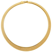 Buy Susan Caplan Vintage 1980s Vintage Monet Flex Gold Plated Collar Online at johnlewis.com