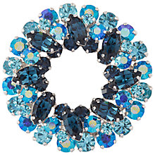 Buy Susan Caplan 1950s Vintage Sherman Azure Silver Plated Wreath Brooch Online at johnlewis.com