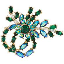 Buy Susan Caplan Vintage 1960s Regency Crystal Floral Brooch Online at johnlewis.com