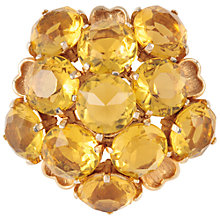Buy Susan Caplan Vintage 1960s Sphinx Amber Crystal Brooch Online at johnlewis.com