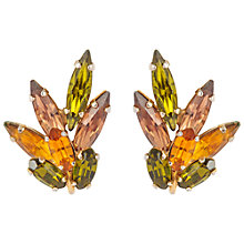 Buy Susan Caplan Vintage 1960s Sherman Swarovski Crystal Clip-On Earrings, Olive/Orange Online at johnlewis.com