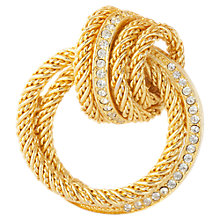 Buy Susan Caplan Vintage Christian Dior Gold plated Swarovski Crystal Knot Brooch Online at johnlewis.com