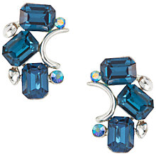 Buy Susan Caplan Vintage 1950s Vintage Lisner Faux Sapphire Earrings, Silver/Blue Online at johnlewis.com