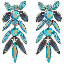 Buy Susan Caplan Vintage 1950s Sherman Aurora Borealis Swarovski Crystal Earrings, Blue Online at johnlewis.com