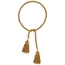 Buy Susan Caplan Vintage 1950s Monet Gold Plated Tassel Lariat Online at johnlewis.com