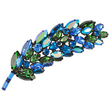 Buy Susan Caplan Vintage 1950s Regency Long Crystal Leaf Brooch Online at johnlewis.com
