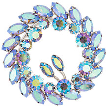 Buy Susan Caplan Vintage 1950s Sherman Silver Plated Lavender Wreath Brooch Online at johnlewis.com