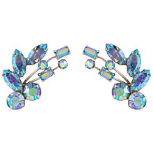 Buy Susan Caplan Vintage 1950s Vintage Keyes Aurora Borealis Swarovski Crystal Floral Earrings, Blue Online at johnlewis.com