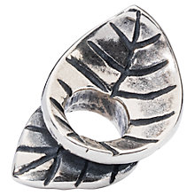 Buy Trollbeads Sterling Silver Spring Leaves Bead, Silver Online at johnlewis.com