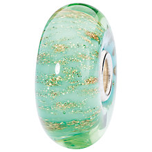 Buy Trollbeads Glass Seabed Bead, Green/Gold Online at johnlewis.com