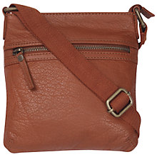 Buy Fat Face Zip Front Mini Cross-body Bag, Tan Online at johnlewis.com