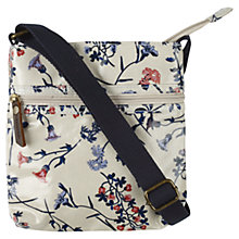 Buy Fat Face Flower Fields Mini Messenger Bag, Ecru Online at johnlewis.com