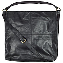 Buy Fat Face Slouchy Shouldered Bag, Black Online at johnlewis.com