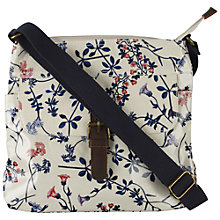 Buy Fat Face Flower Fields Flap X-Body Bag, Ecru Online at johnlewis.com