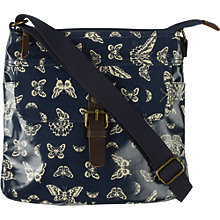 Buy Fat Face Butterfly Coated Cross Body Bag, Navy Online at johnlewis.com