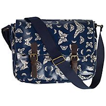 Buy Fat Face Butterfly Satchel, Navy Online at johnlewis.com