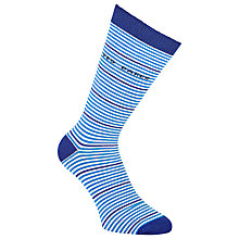 Buy Ted Baker Bilford Stripe Socks, One Size, Blue Online at johnlewis.com