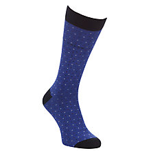 Buy Ted Baker Tiny Dot Organic Cotton Socks, One Size, Blue Online at johnlewis.com