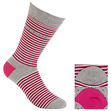 Buy Ted Baker Cotton Socks, Pack of Two, One Size, Pink Online at johnlewis.com