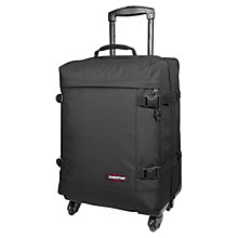 Buy Eastpak Tranverz 4-Wheel Small Cabin Suitcase, Black Online at johnlewis.com
