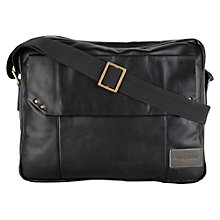 Buy Hidesign Dylan Large Flapover Leather Despatch Bag, Black Online at johnlewis.com