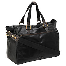 Buy Hidesign Dylan Large Zip Top Gym Bag, Black Online at johnlewis.com