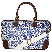 Buy John Lewis Floral Overnight Holdall, Blue Online at johnlewis.com