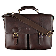 Buy Hidesign Large Leather Parker Flapover Briefcase Online at johnlewis.com