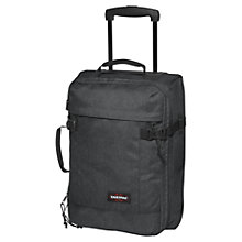 Buy Eastpak Tranverz 2-Wheel Extra Small Suitcase, Black Denim Online at johnlewis.com